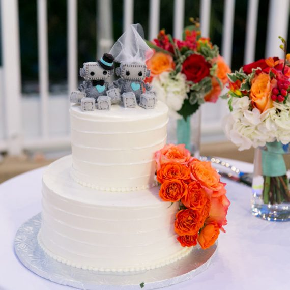 colorful floral wedding