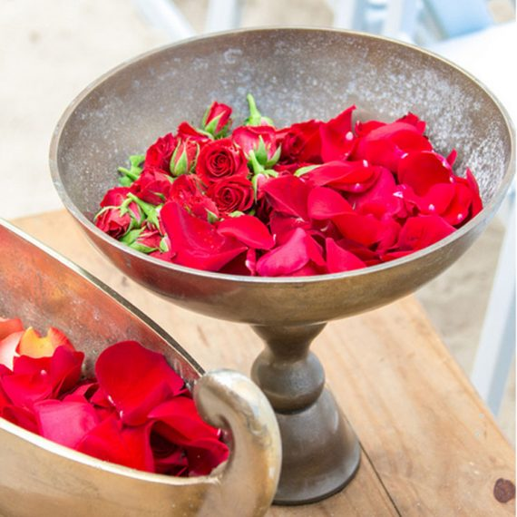 bowl of rose pedals