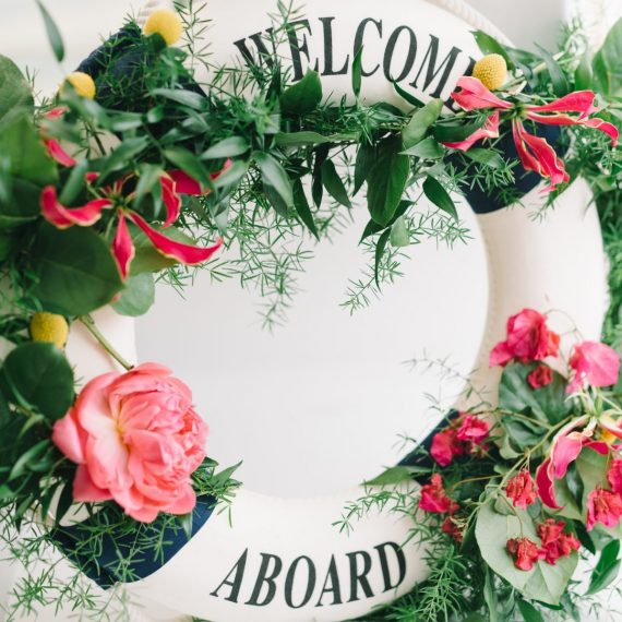 Welcome aboard for wedding